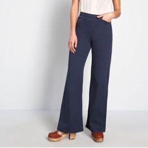 ModCloth navy blue wide leg pants.
